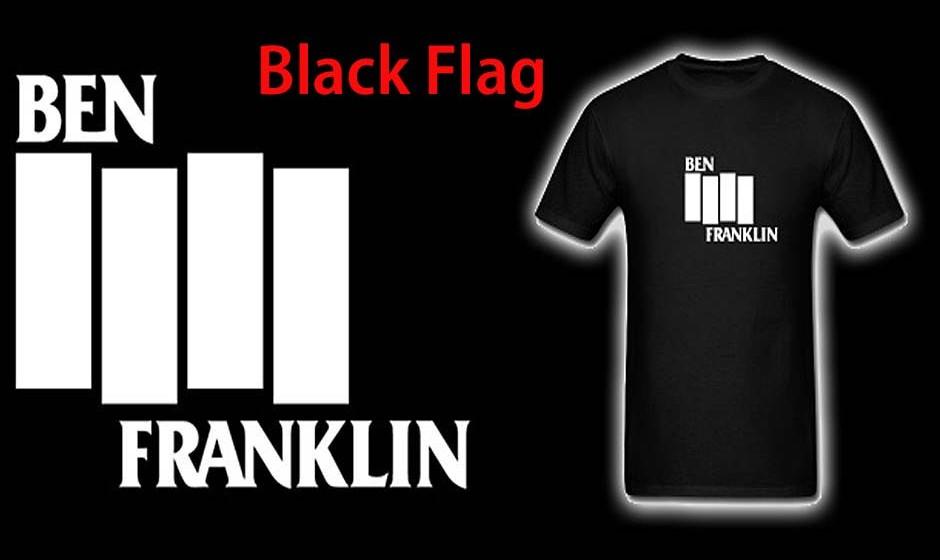 Benjamin Franklin = Black Flag