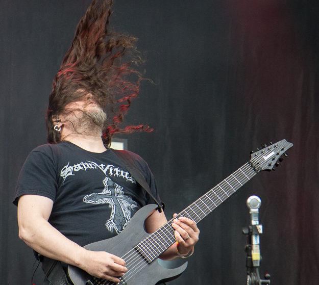 Meshuggah Gitarrist Mårten Hagström.