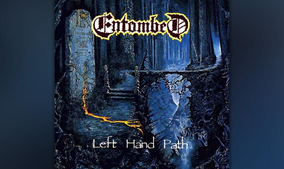 Sehr zum 25-jährigen Jubiläum des legendären Debüt-Albums alle Entombed-Cover in der Galerie!   LEFT HAND PATH (1990)