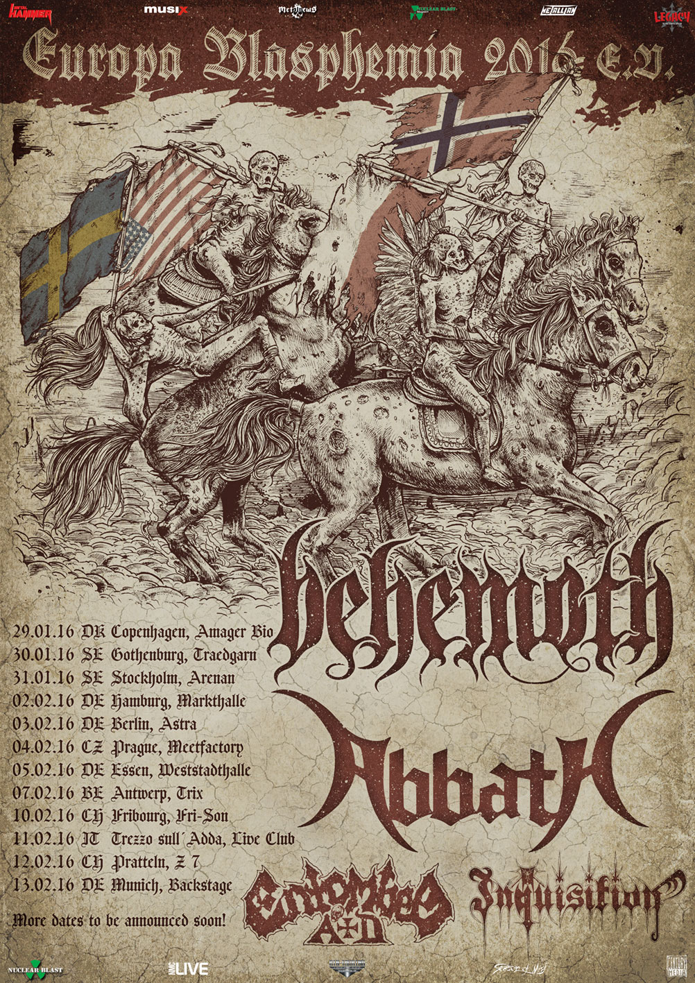 Behemoth Tour 2016 Plakat