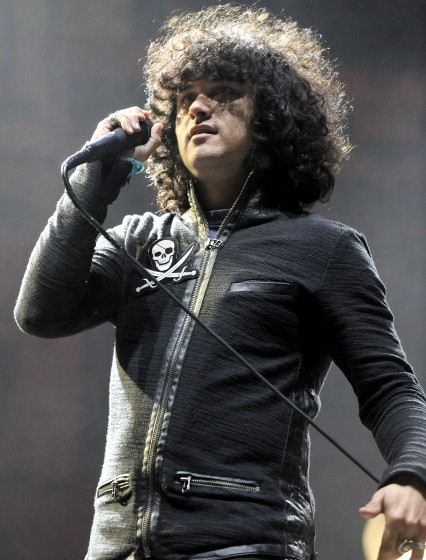 INDIO, CA - APRIL 15:  Cedric Bixler-Zavala of At the Drive-In performs as part of Day 3 of the 2012 Coachella Valley Music &
