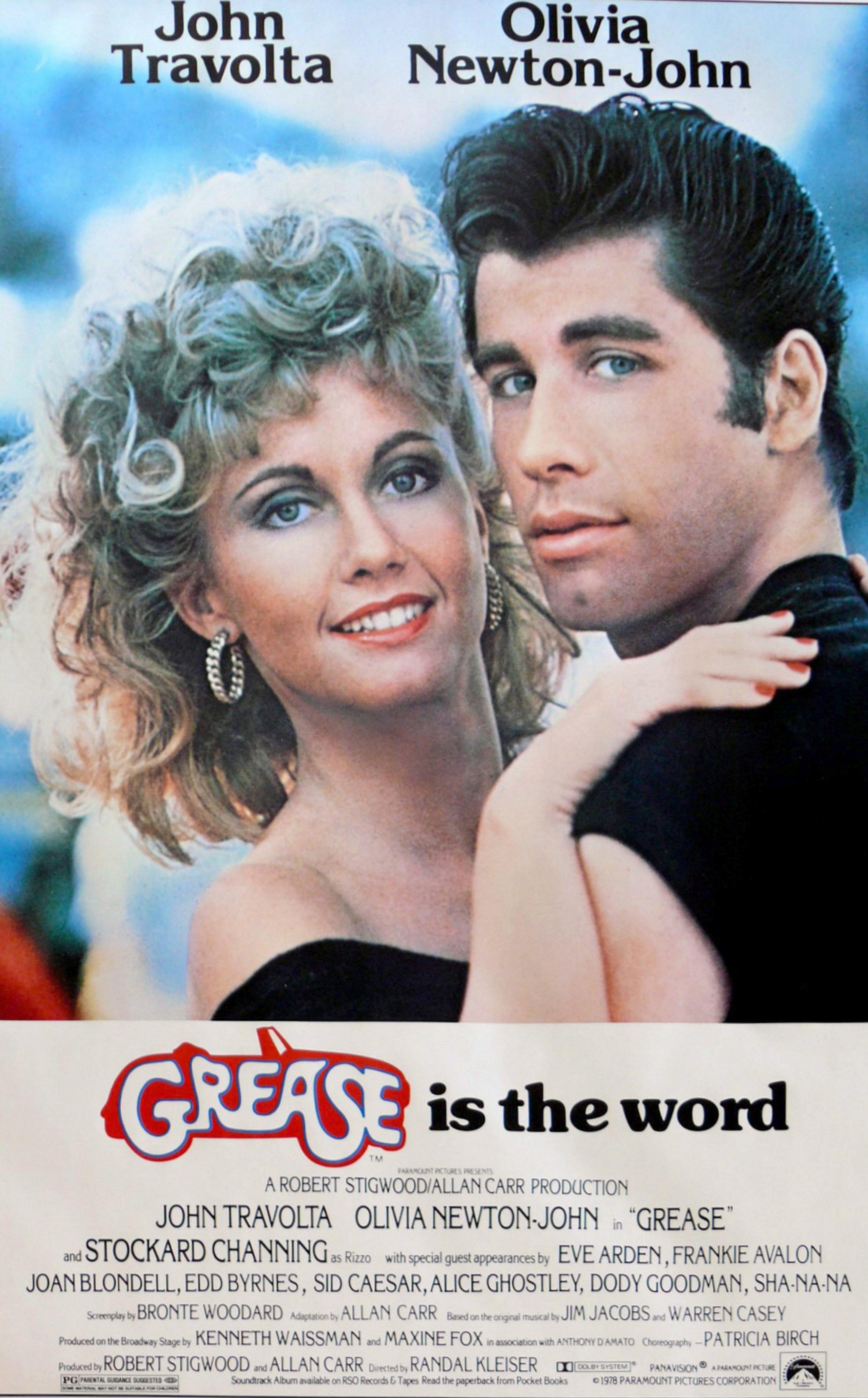 Das Film-Plakat zu Grease