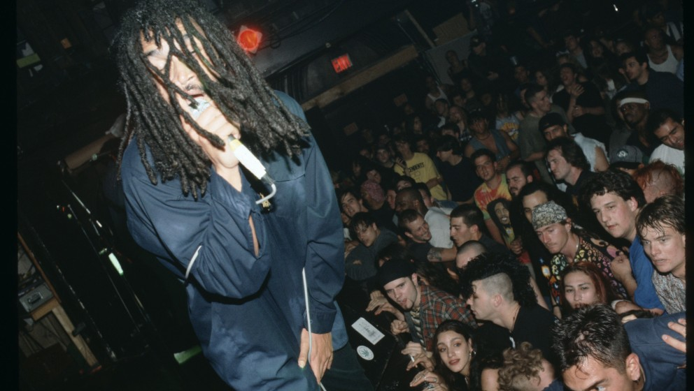 NEW YORK - JUNE 13:  Lead Singer H.R. (Human Rights) of the seminal Punk band Bad Brains performs live at the Roseland Ballro