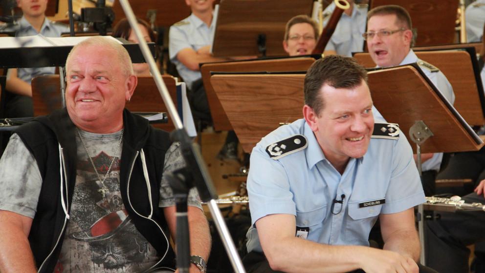 Musicnstuff.de bei den Proben von U.D.O. und dem Bundeswehr Musikkorps