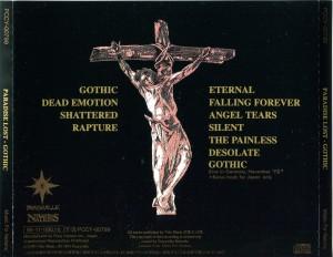 Paradise Lost - Gothic - Back