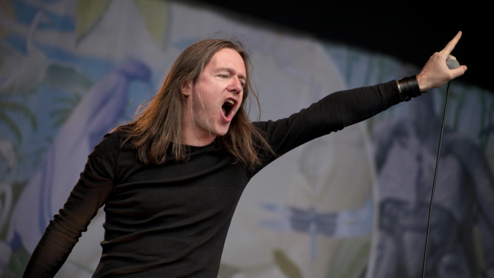 DERBY, UNITED KINGDOM - AUGUST 13: Lee Dorrian of Cathedral performs on stage at Bloodstock Open Air Metal Festival at Catton