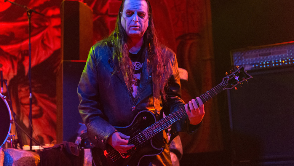 WEST HOLLYWOOD, CA - NOVEMBER 13: Dez Cadena of Misfits performs on stage at House of Blues on November 13, 2014 in West Holl