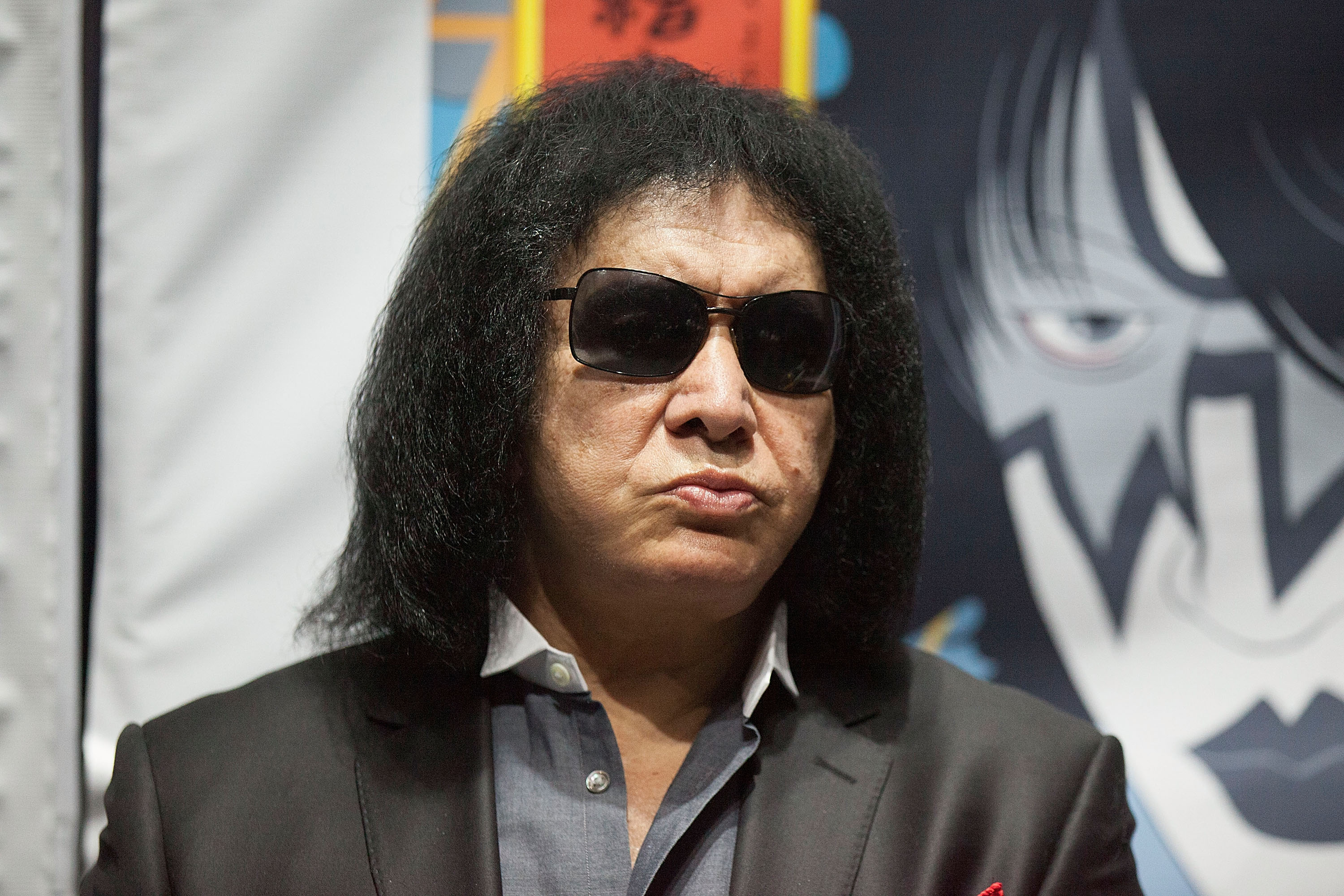 LOS ANGELES, CA - JULY 02: Gene Simmons attends the press conference and concert hosted by KISS members Gene Simmons and Paul