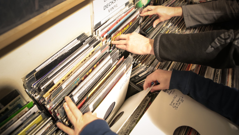 LONDON, UNITED KINGDOM - APRIL 20: General view inside Reckless Records store on Record Store Day in Berwick Street on April