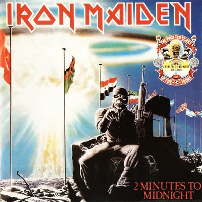 Iron Maiden 2 MINUTES TO MIDNIGHT (Single) 1984