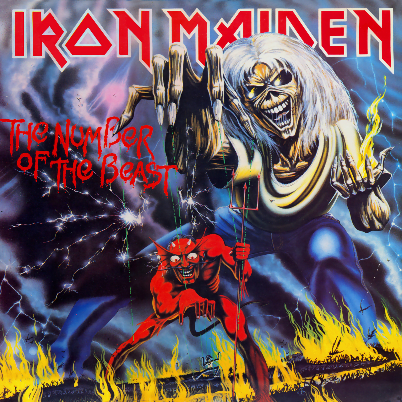 Iron Maiden THE NUMBER OF THE BEAST 1982