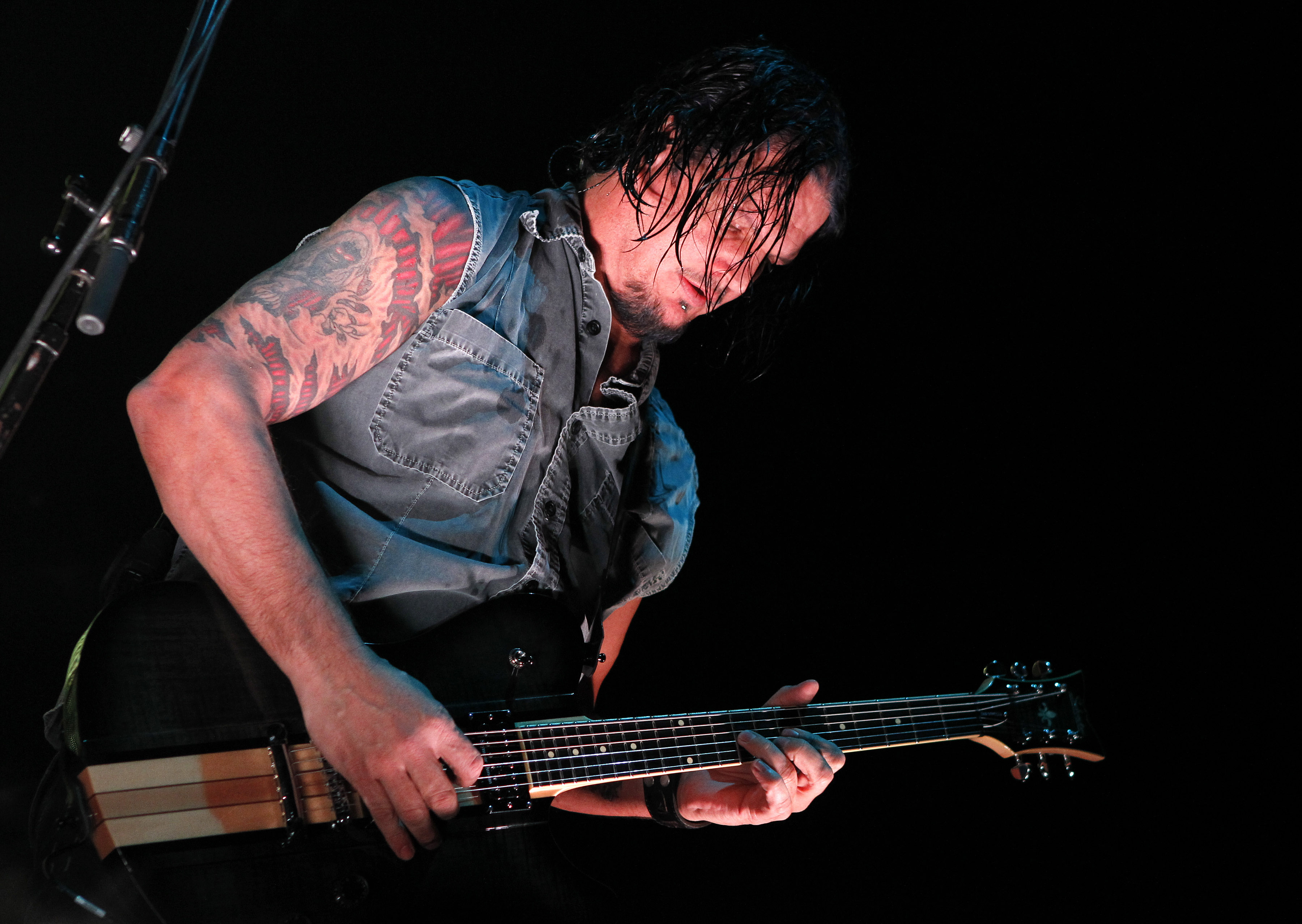 Dan Donegan of Disturbed performs at 'Rockstar Taste of Chaos' at Wembley Arena on December 8, 2010 in London, England. (Phot