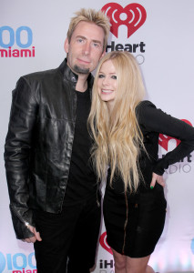 SUNRISE, FL - DECEMBER 20:  Chad Kroeger (L) and Avril Lavigne attend Y100's Jingle Ball 2013 Presented by Jam Audio Collection at BB&T Center on December 20, 2013 in Miami, Florida.  (Photo by John Parra/Getty Images for Clear Channel)