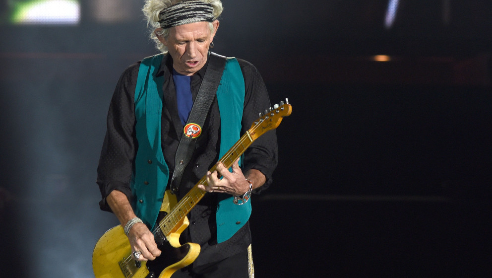 QUEBEC CITY, QC - JULY 15:  Keith Richards of The Rolling Stones performs during the Festival D'ete De Quebec on July 15, 201