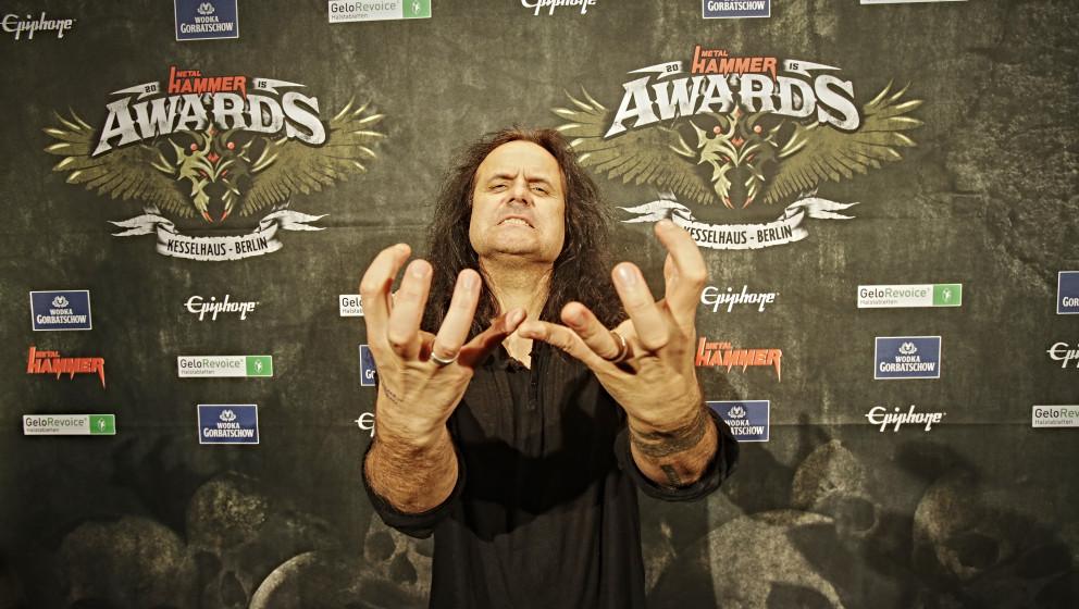Kreator-Frontmann Mille Petrozza bei den METAL HAMMER AWARDS 2015