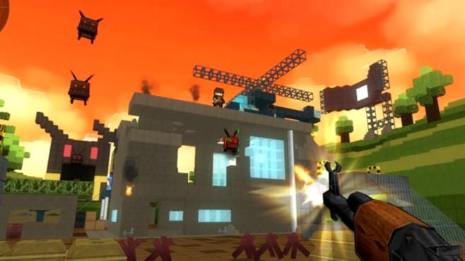 """""""Brick-Force"""" kombiniert das bekannte Klötzchen-Aufbauspiel """"Minecraft"""" mit dem Prinzip eines Ego-Shooters. Sie spie"""