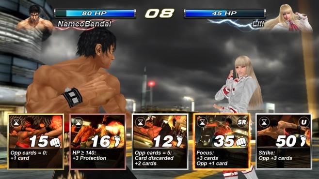 """""""Tekken Card Tournament"""" ist ein Online-Prügelspiel, das Sie direkt im Browser starten. Hier treten Sie gegen bekannte F"""