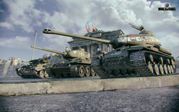 """In den gewaltigen Schlachten des kostenlosen Online-Actionspiels """"World of Tanks"""" treffen jeweils zwei Einheiten von 15 P"""