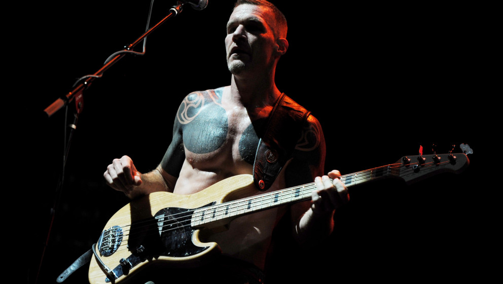 LOS ANGELES, CA - JULY 30:  Musician Tim Commerford of Rage Against the Machine performs at L.A. Rising at the L.A. Memorial