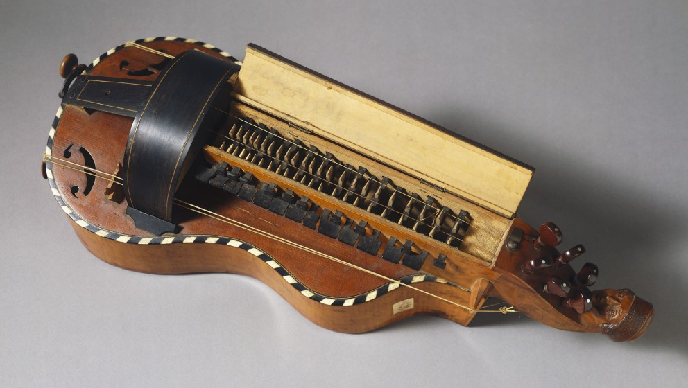 FRANCE - JANUARY 09: Hurdy-gurdy, before 1881, by Nicolas Colson (1788-1830). France, 19th century. Florence, Museo Strumenti