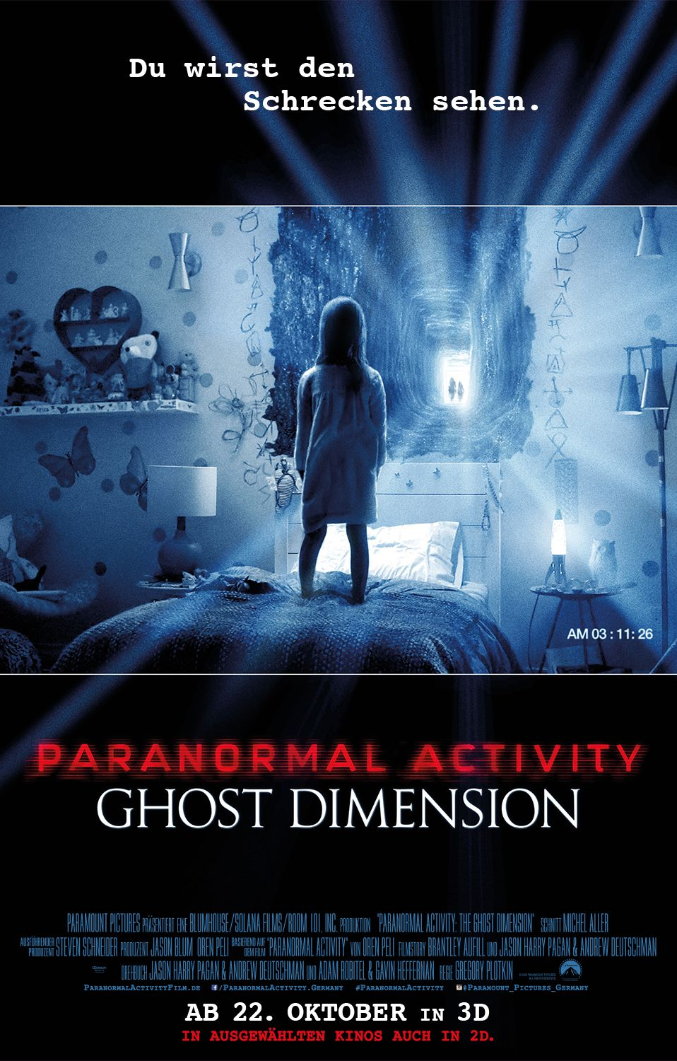 Paranormal Activity - Ghost Dimension 3D Plakat