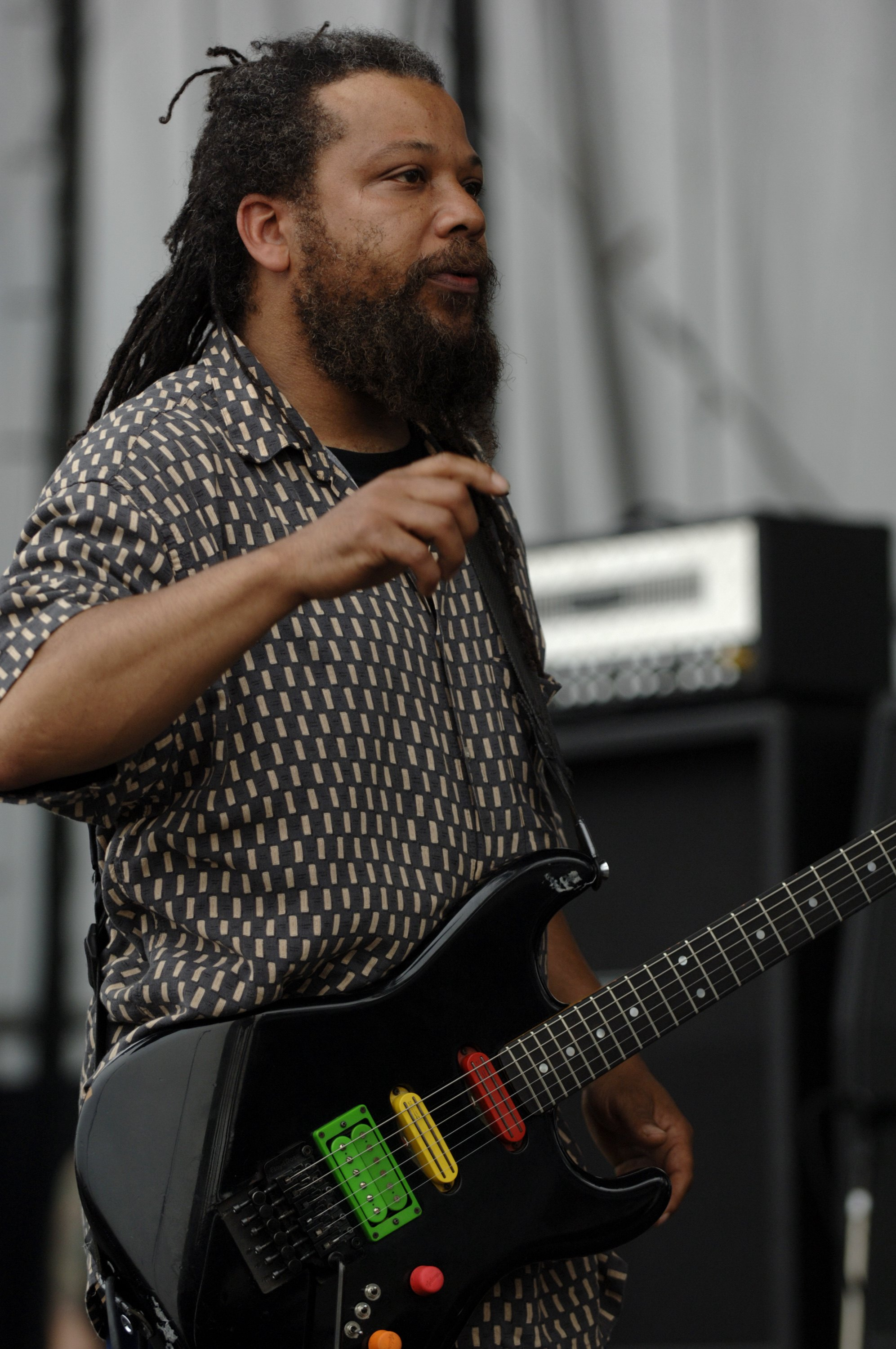 BALTIMORE, MD - AUGUST 5: Dr. Know aka Gary Miller of Bad Brains performs as part of the Virgin Festival at Pimlico Racetrack