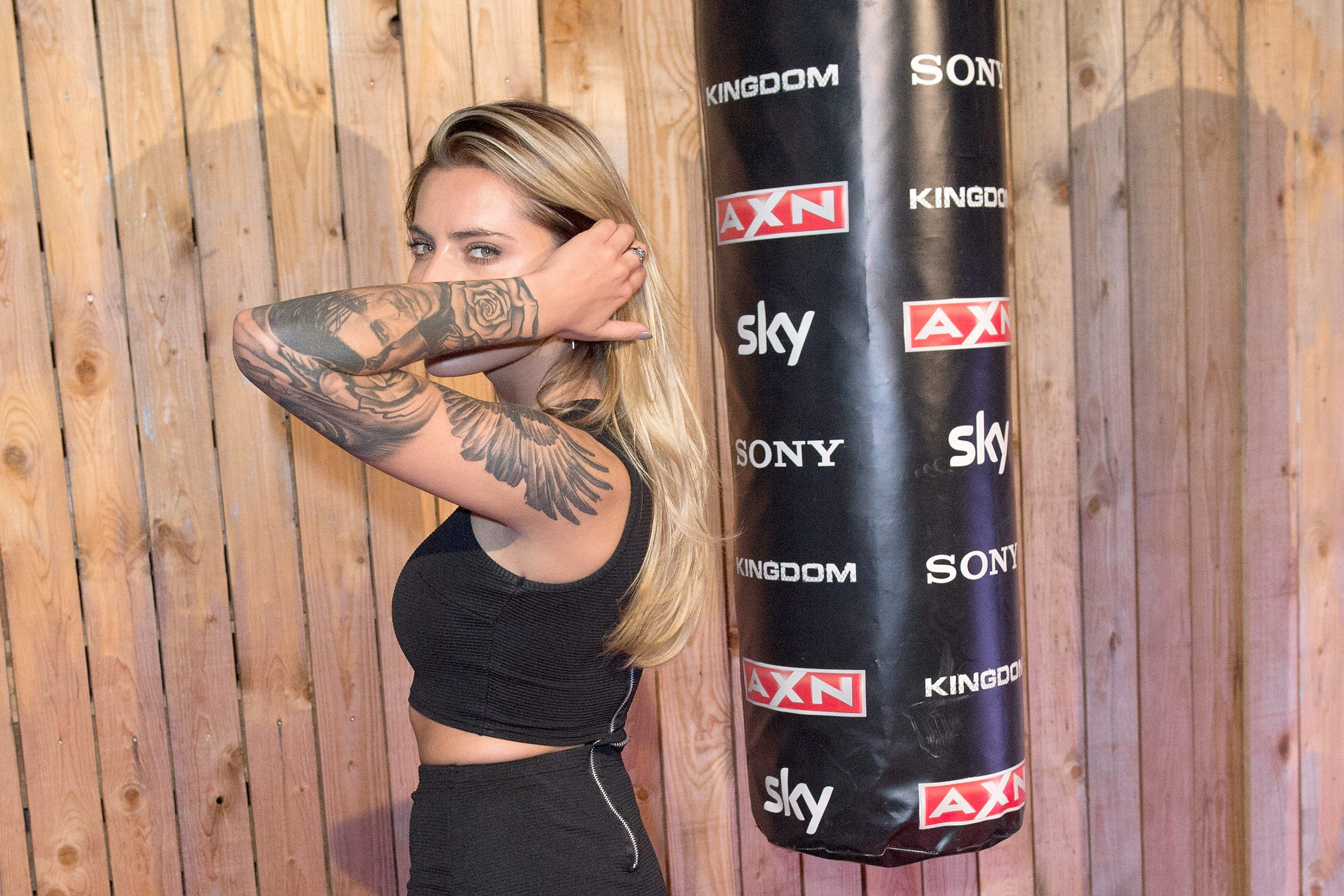 BERLIN, GERMANY - SEPTEMBER 23:  Sophia Thomalla attends the premiere for the AXN series 'Kingdom' on September 23, 2015 in B
