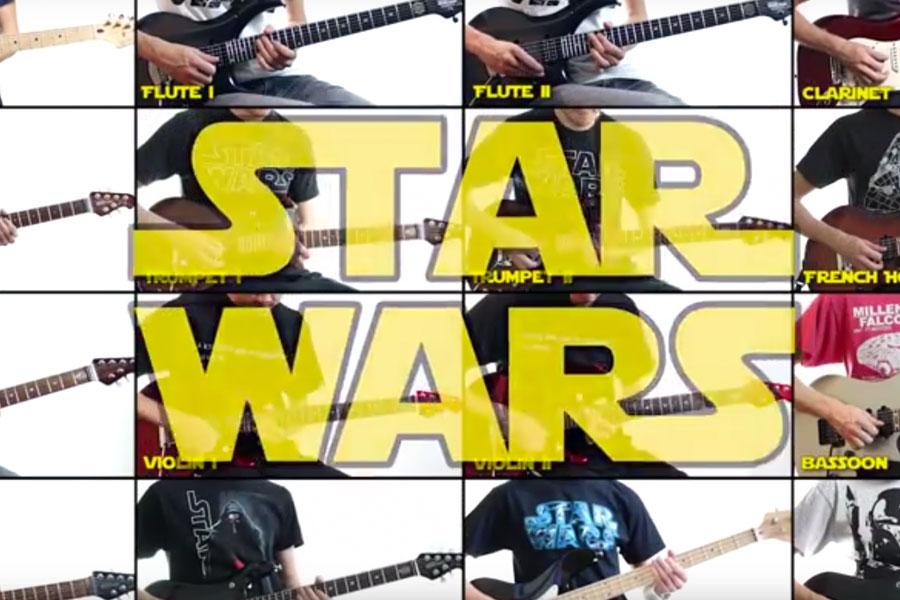 Die Star Wars-Melodie auf 31 Gitarren