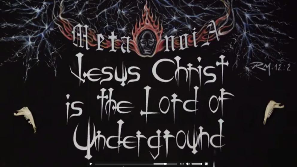 Das Motto der Metal-Kirche.