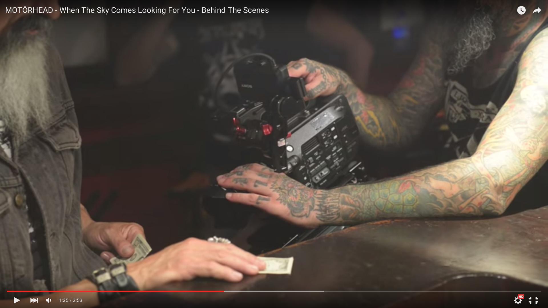 Eine Szene aus dem Behind The Scenes-Video zum Motörhead-Song.
