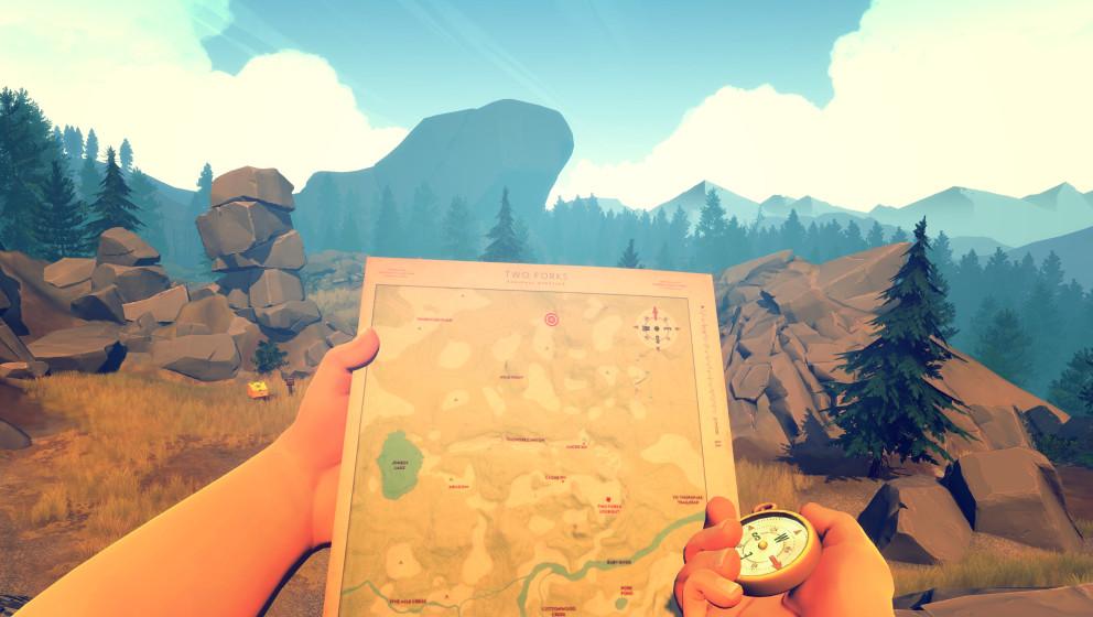 FIREWATCH Adventure Campo Santo //   Als Nationalparkwächter geht man in diesem Indie-Spiel geheimnisvollen Ereignissen inne