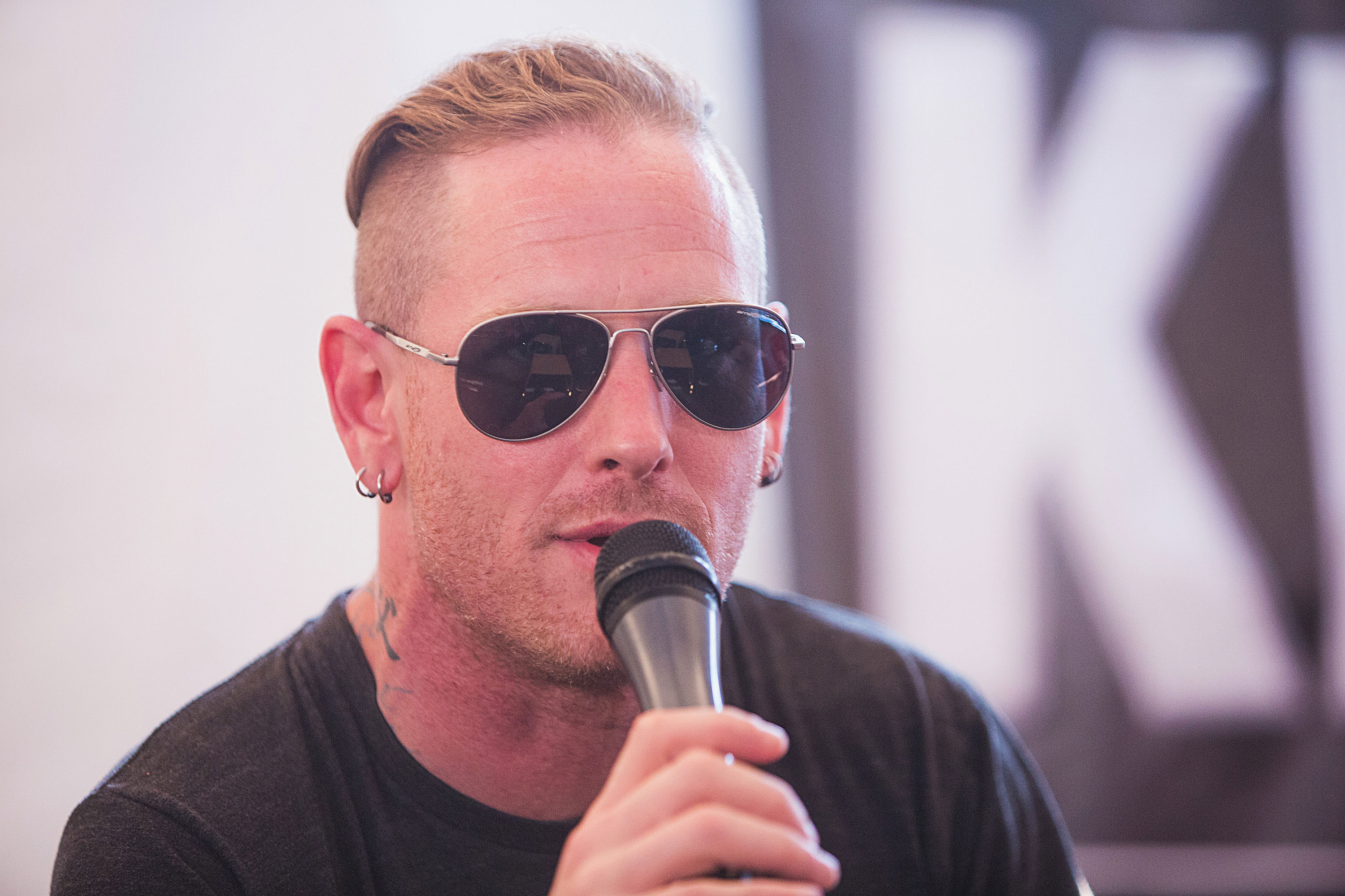 Corey Taylor im Interview.