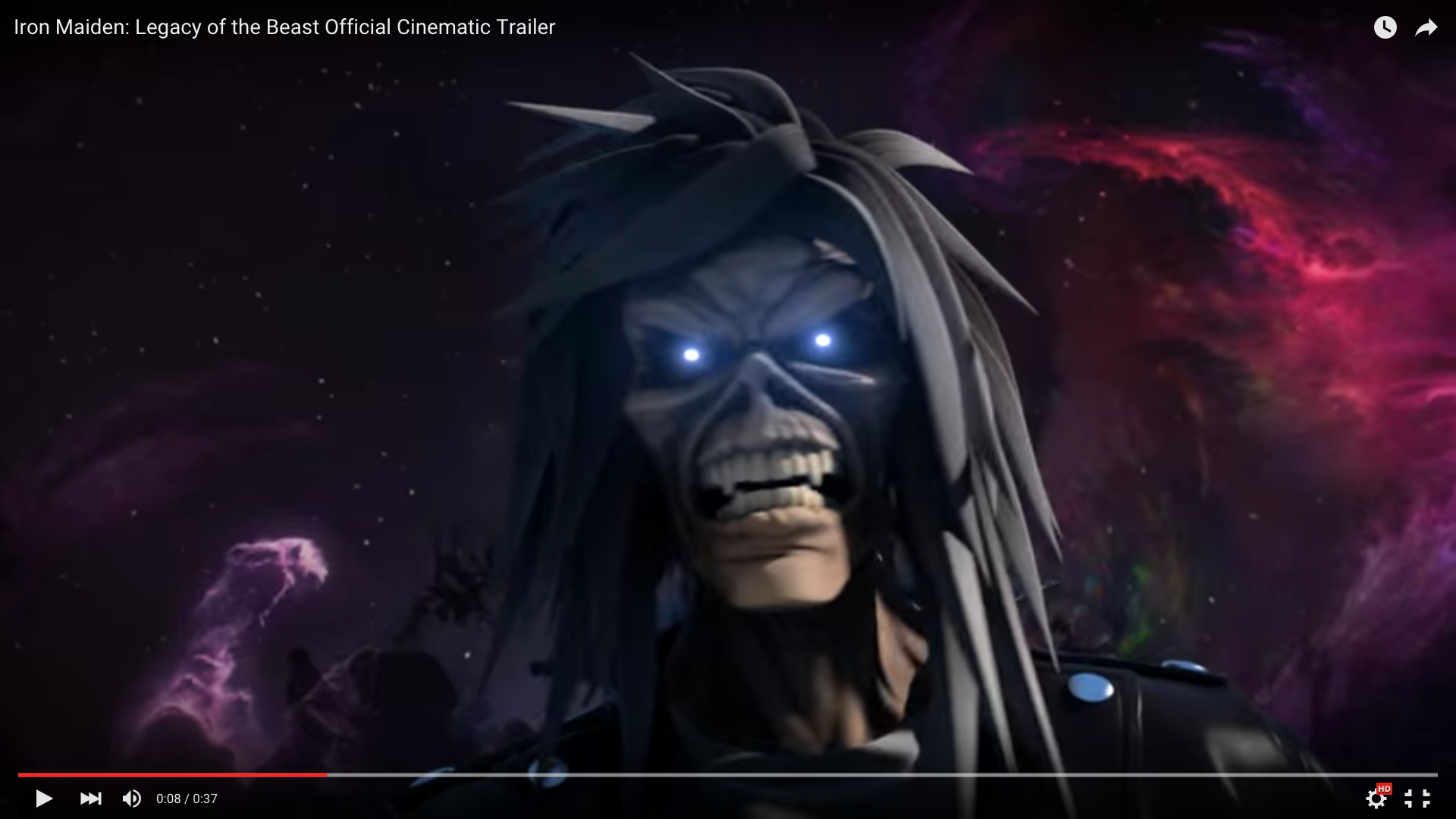 Screenshot aus dem Trailer zu 'Iron Maiden: Legacy Of The Beast'.