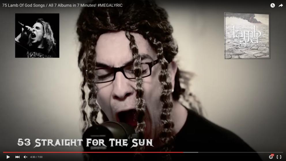 YouTuber Paschalis Theotokis mit passender Randy Blythe-Gedächtnis-Frisur.