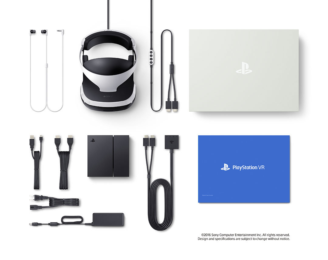 Lieferumfang der PlayStation VR