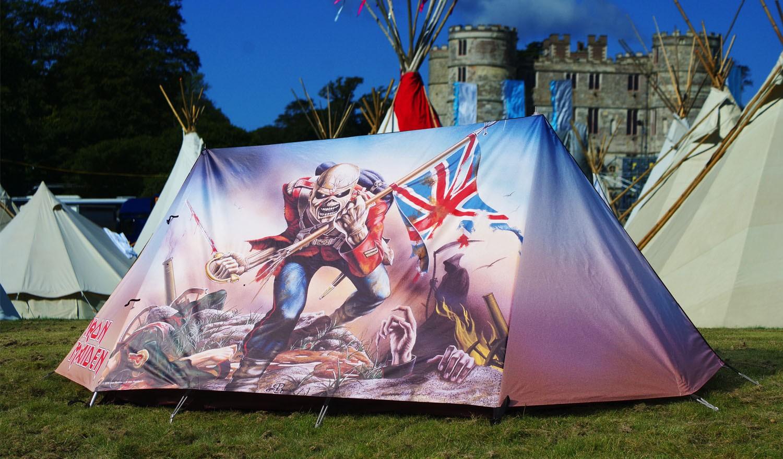 Hier kaufen: http://www.fieldcandy.com/iron-maiden-the-trooper-tent.html