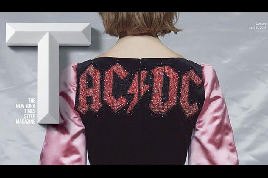 Das AC/DC-Kleid von Gucci.