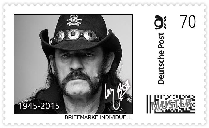 Ehre wem Ehre gebührt! Lemmy bekommt Briefmarke.