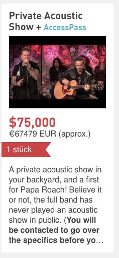 Papa Roach Crowdfunding