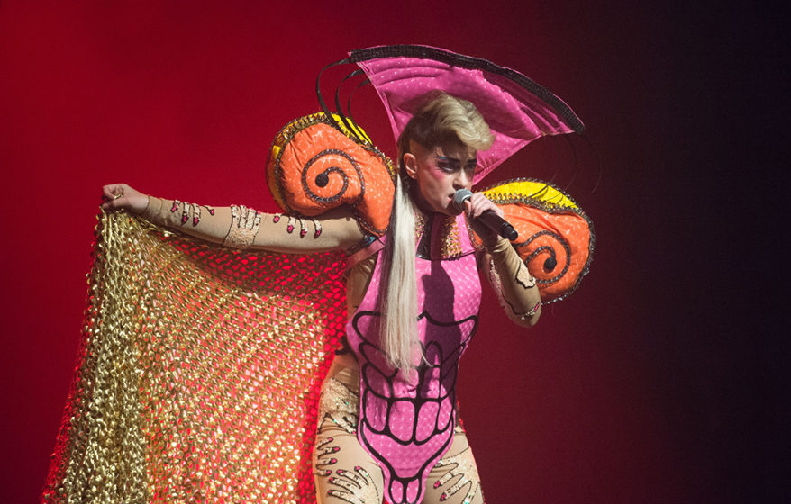 PARIS, FRANCE - DECEMBER 17:  Peaches performs at La Cigale on December 17, 2015 in Paris, France.  (Photo by David Wolff - P