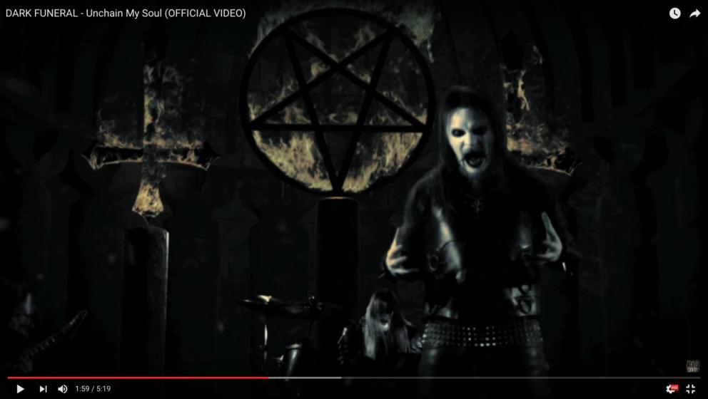 Screenshot aus dem neuen Dark Funeral-Video zu 'Unchain My Soul'