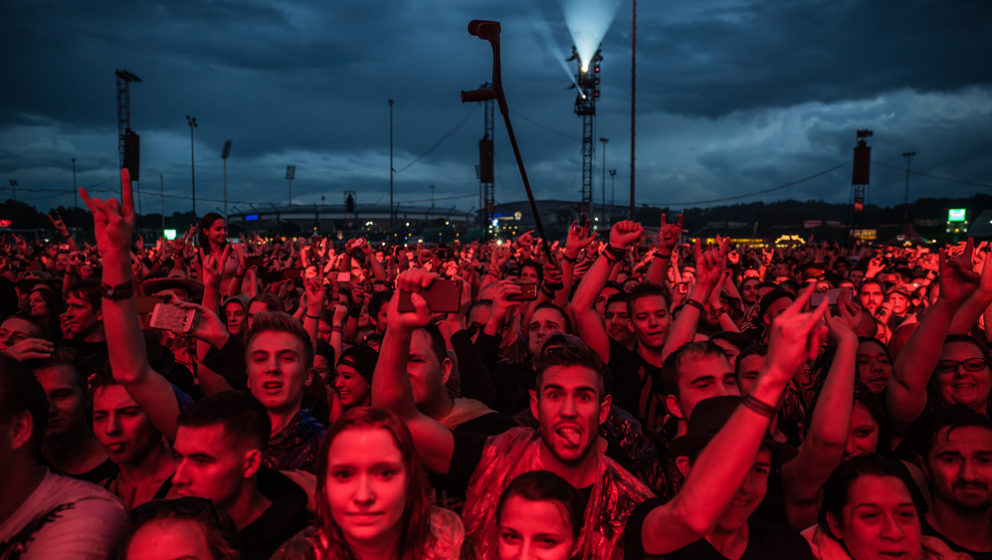Publikum bei Volbeat am Rock Im Park 2016.