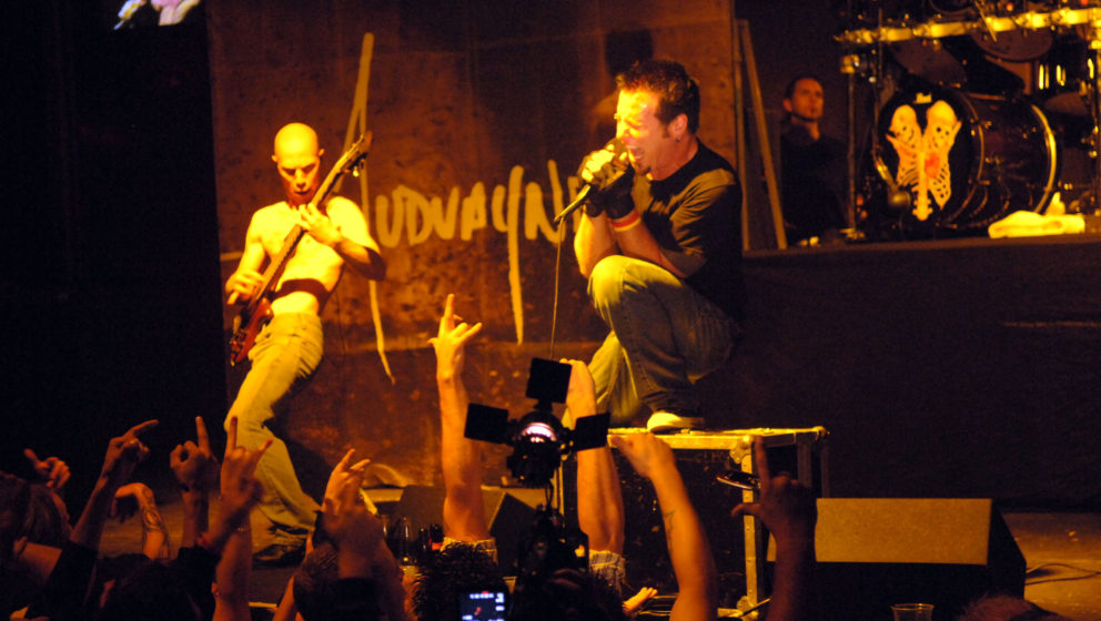Mudvayne during Lions Gate Films' Saw II Las Vegas Premiere - After Party at Rain Nightclub at Palms Casino in Las Vegas, Nev