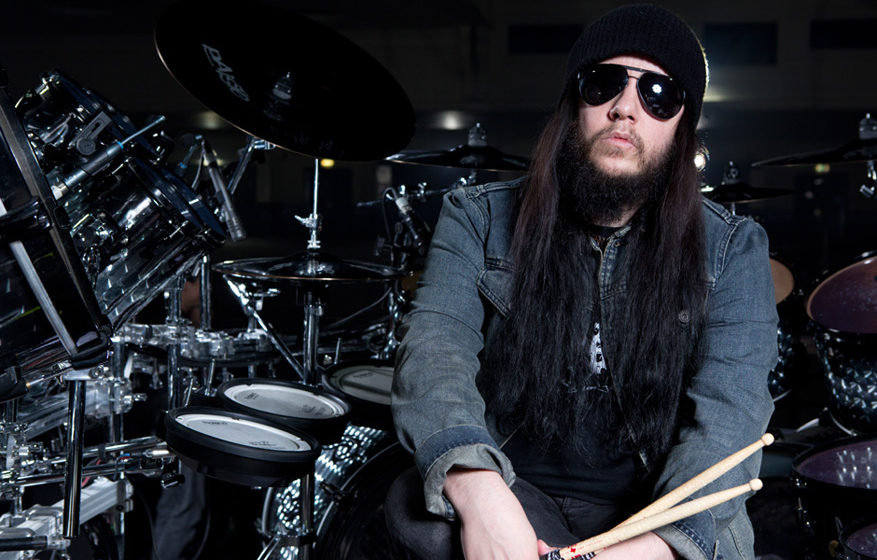LONDON, UNITED KINGDOM - JUNE 12: Joey Jordison, drummer of American heavy metal band Slipknot, photographed during a portrai