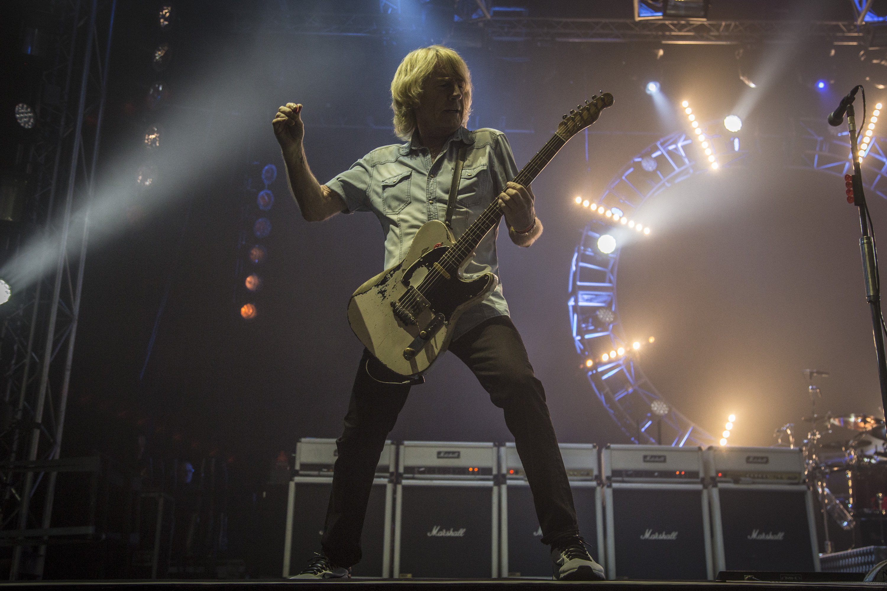 NEWPORT, ISLE OF WIGHT - JUNE 09:  Rick Parfitt from Status Quo performs at the Isle Of Wight Festival 2016 at Seaclose Park