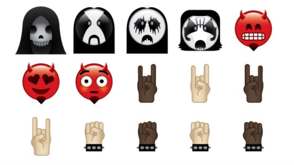 175 Metal-Emojis hat die neue App 'Heavy Metal Emoji Keyboard' für euch im Angebot!