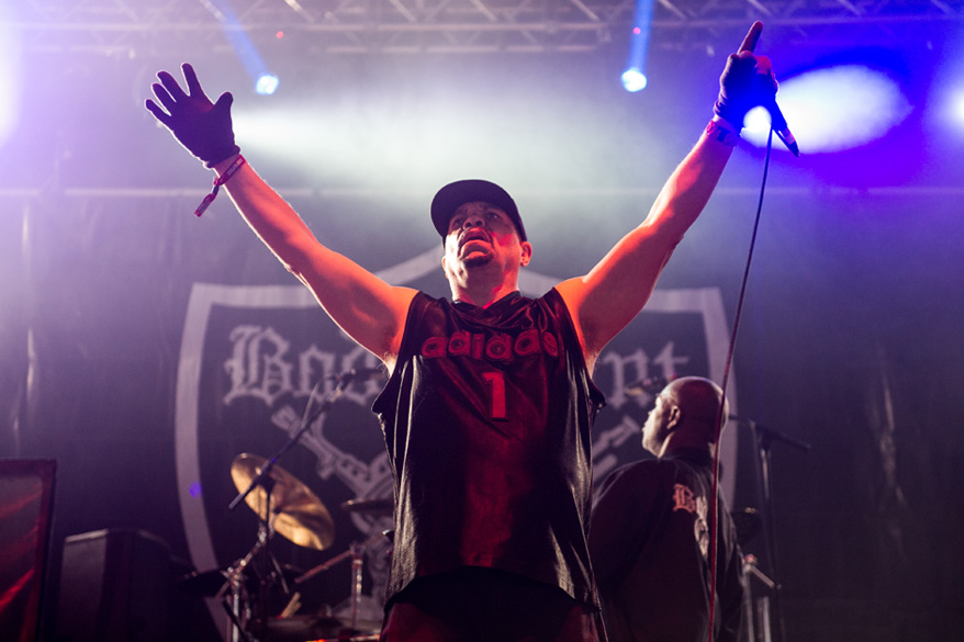 CASTLE DONINGTON, ENGLAND - JUNE 13:  (EDITORIAL USE ONLY) Ice-T of Body Count performs live on Day 2 of the Download Festiva