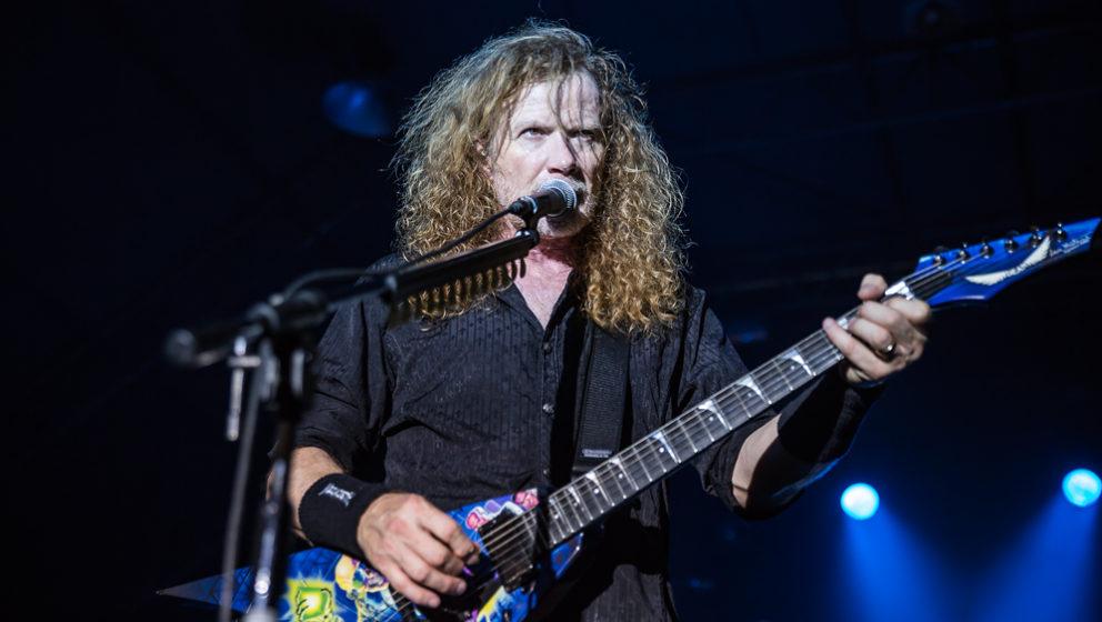 Megadeth-Frontmann Dave Mustaine 2016 live in der Tonhalle München