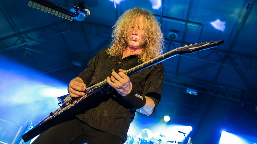 Dave Mustaine bei einem Megadeth-Konzert