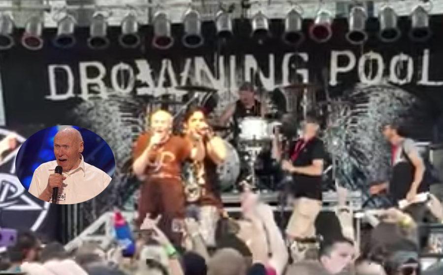 Drowning Pool spielen gemeinsam mit Metal-Opi 'Bodies'.